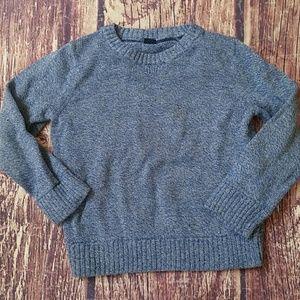 Baby Gap blue & white tweed crew neck sweater sz 3